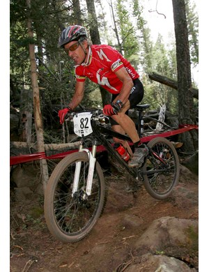 Ned Overend finished 18th place in the Men's Cross Country Race at the UCI Mountain Bike World Cup at the Angel Fire Resort on July 10, 2005 in Angel Fire, New Mexico.