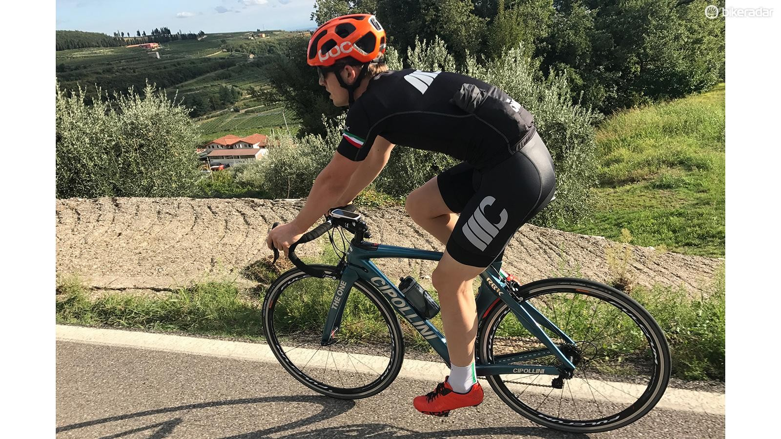 I tested the bike in the Valpolicella region of Italy