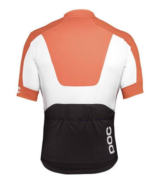 Both the short sleeve and long sleeve jerseys feature three blocks of black, white and orange colour