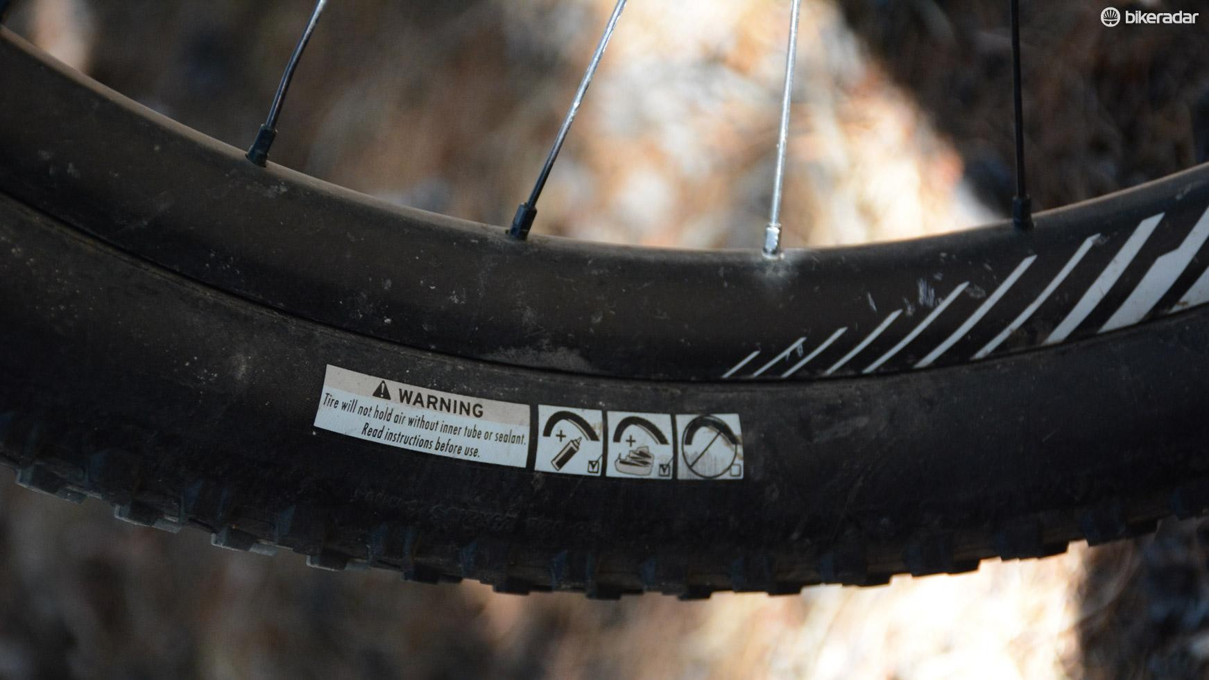 Warning! Not really, just a note to use sealant or a tube like every other tubeless-ready tire