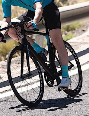 The new direct-mount rim brakes are impressively powerful, with great lever feel