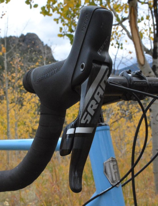 SRAM Force CX1 levers control 11 speeds out back, and hydraulic braking