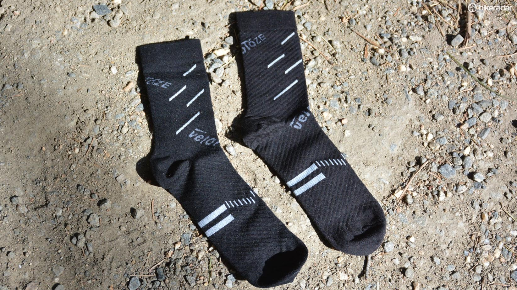 Velotoze socks partner wool with a bit of compression