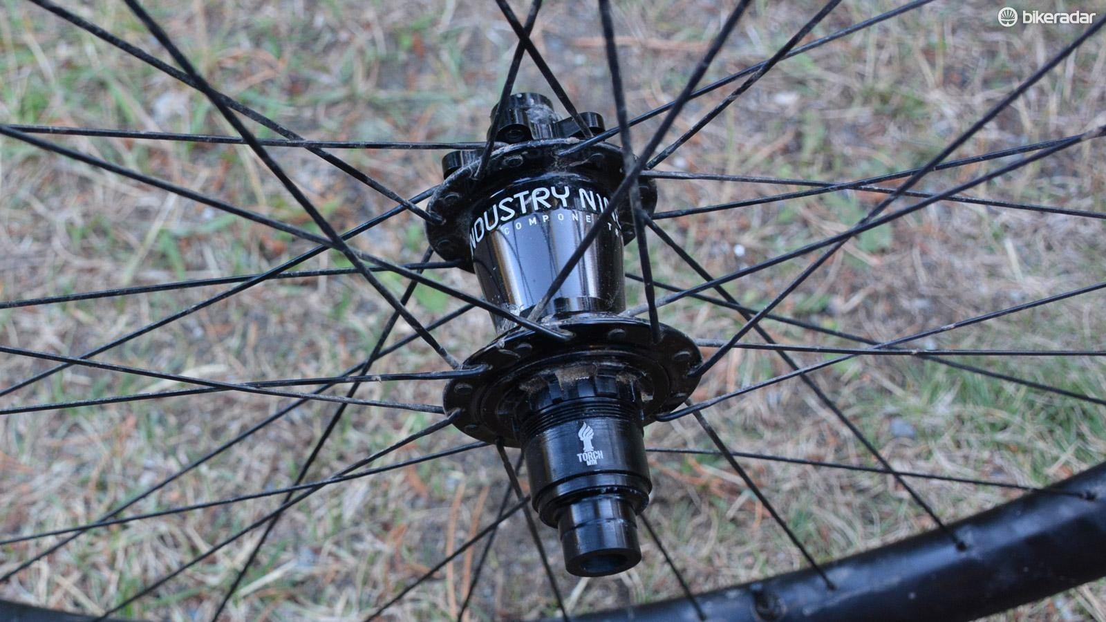 Industry Nine's Torch hubs were the heart anchoring this wheelset