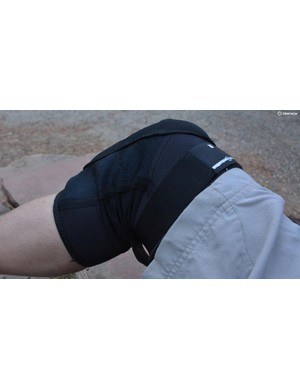 The thin, silky material in the bunch-prone spot behind the knee is a well-sorted design