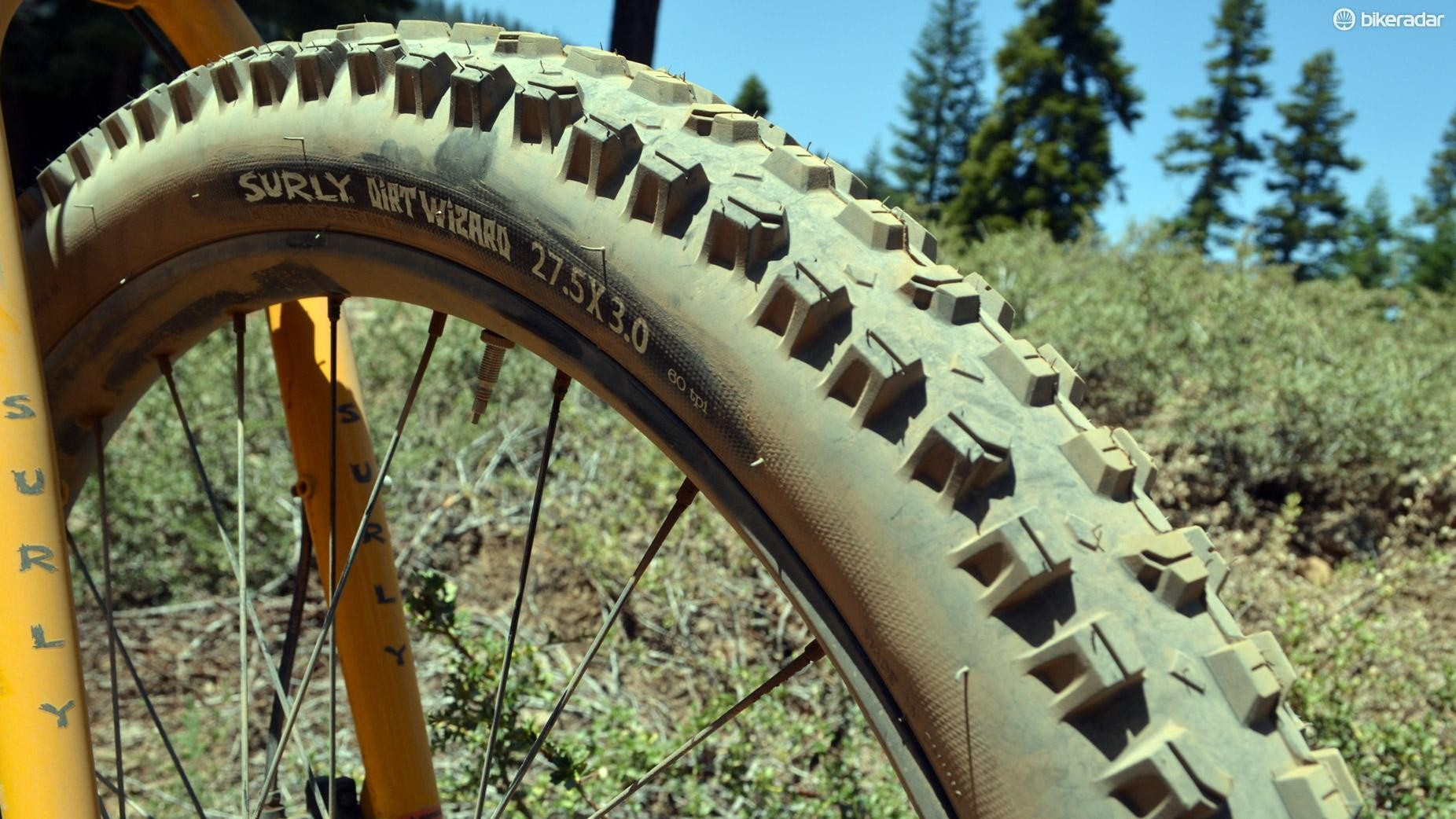 """Can you say """"moto?"""" Surly's Dirt Wizard tires look incredible"""