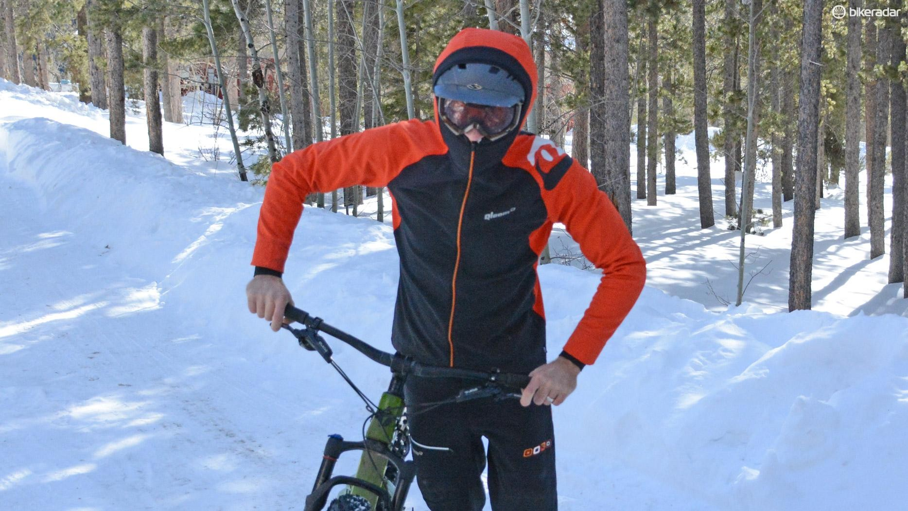 The Watson Lake jacket also worked nicely with a ski helmet and goggles