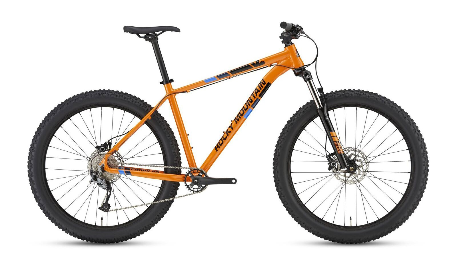 Rocky Mountain's Growler line-up features 26+ or 27.5+ tires depending on size