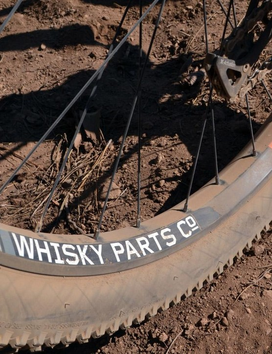 Underneath all the dust notice that Whisky Parts Co. supply the massive plus-size rims