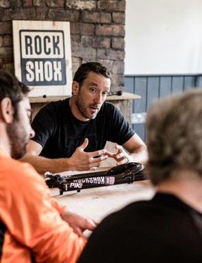 Jon Cancellier, RockShox product manager, all round good guy and trail-ripper, helping everyone get to know the new Pike fork