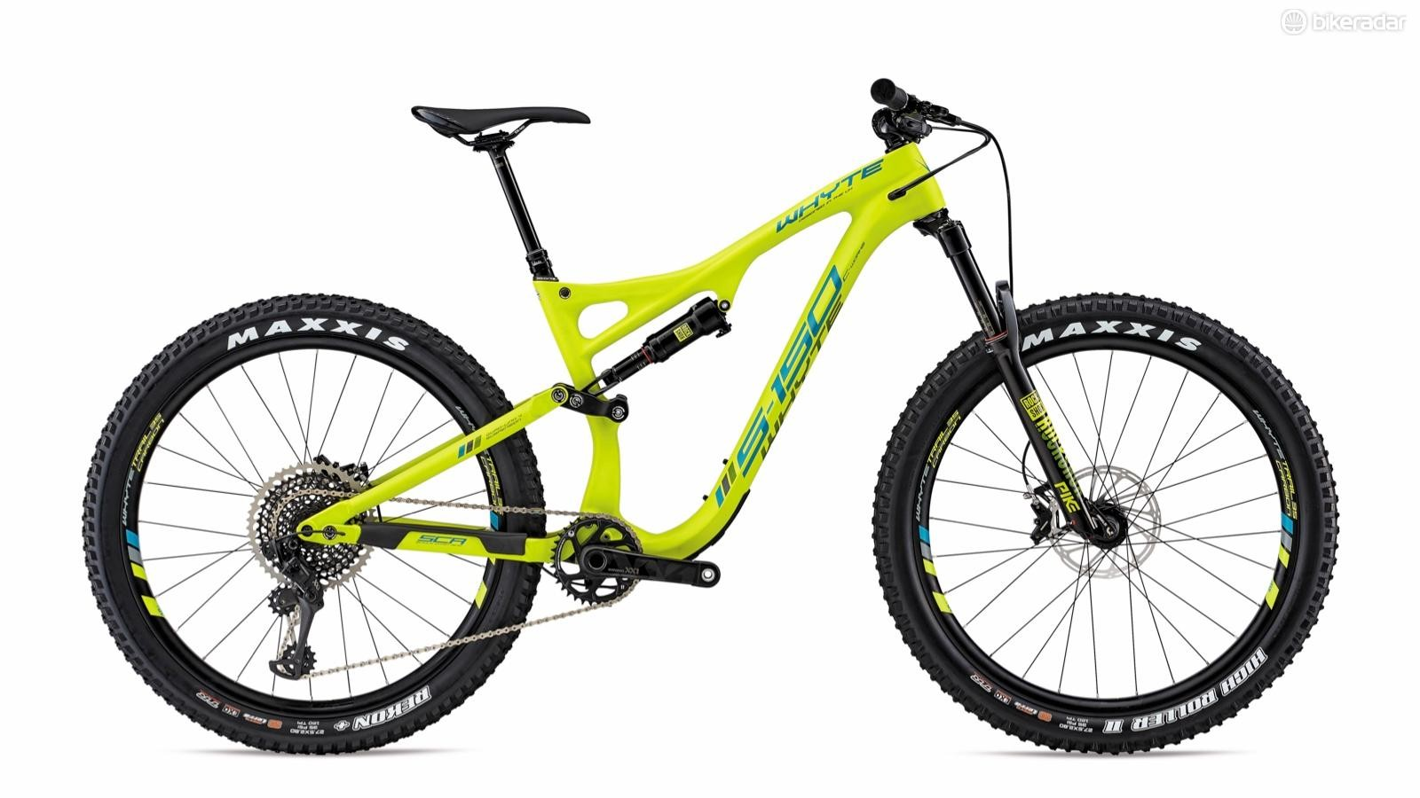 """There's plenty of room in the Boost frame and fork for 27.5 by 2.8"""" rubber. There's no fancy geometry adjust chips, so this will drop the BB a little. I don't think that's necessarily a bad thing, though"""