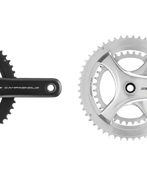The ultra torque chainset comes in black and silver
