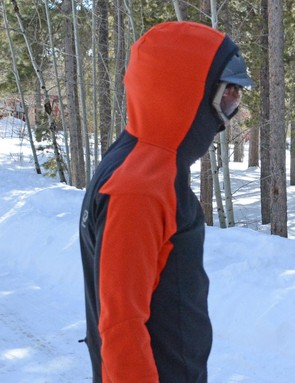 My Smith ski helmet maxed out the hood's capacity