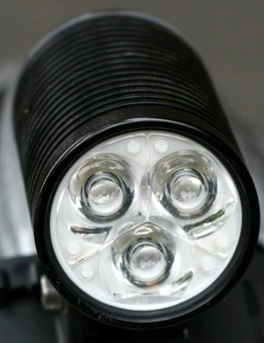Three LEDs pump out a claimed 600 lumens