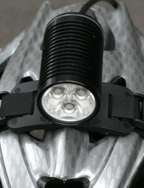 Plenty of strappage for a stable helmet mount. Handlebar mount also included.