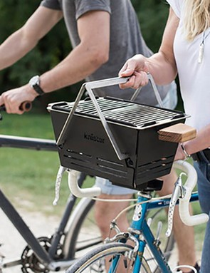 The Knister Grill promises a transportable BBQ solution for your bike