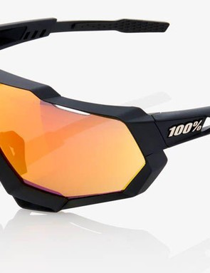 The distinctive shape is claimed to improve peripheral vision and UV protection