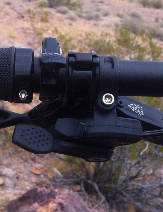 The lower triggers are the fork's lockout. The top lever is for the dropper post
