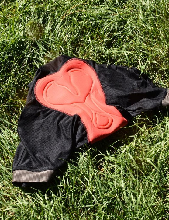 The Italian-made chamois is comfortable and supportive