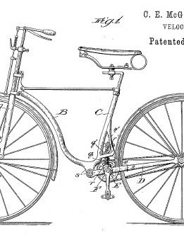 C.E. McGlinchey's Velocipede design looks remarkably modern for something designed in the Victorian era