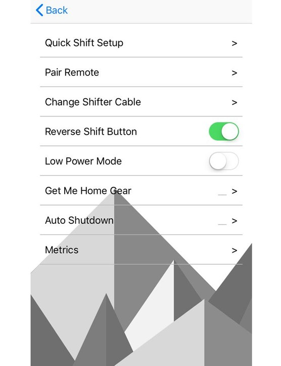 The options list has a few interesting features, such as a programmable multiple shift