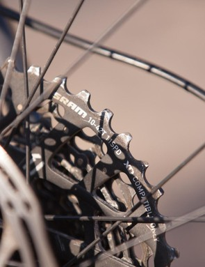 A wide gear range is necessary to make 1x viable, and SRAM's XD body allows for the 10-tooth cog. Normally the 11t is as small as you can go