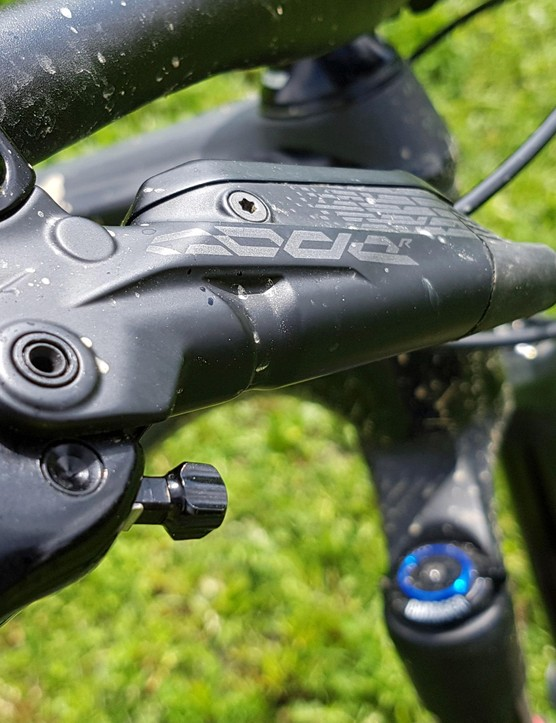 SRAM's Code brake is updated for this year, with a larger volume and heat-protective technologies