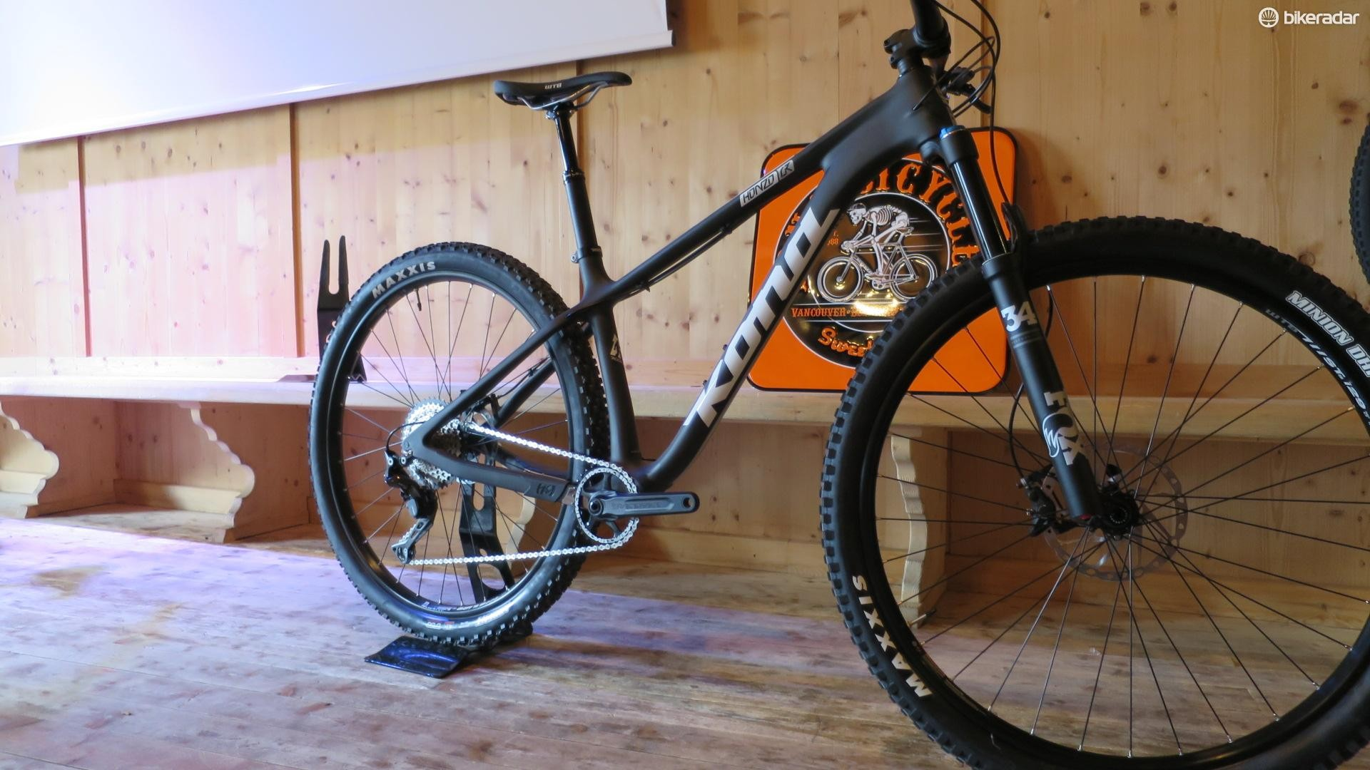 A carbon hardtail from Kona with stonking angles