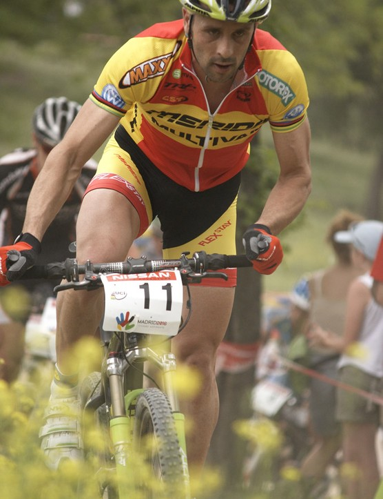 Jose Hermida was lifted into second by the home crowds