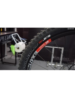 """2.5"""" Hillbilly tires all round in the Specialized pits"""