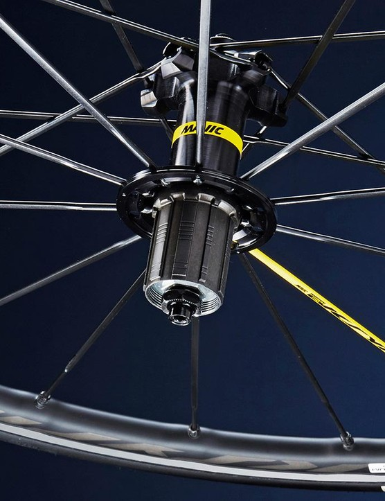 Mavic's Ksyrium Pros are fine wheels, though we wish the French firm had gone even wider