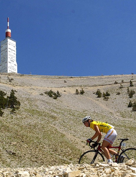 Nicole races towards the summit of Mont Ventoux in the women's Grande Boucle