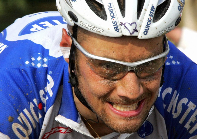 Tom Boonen in action in the 2005 Paris-Roubaix