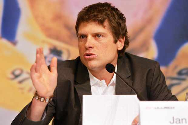 Jan Ullrich at the 2007 press conference where he announced his retirement from cycling