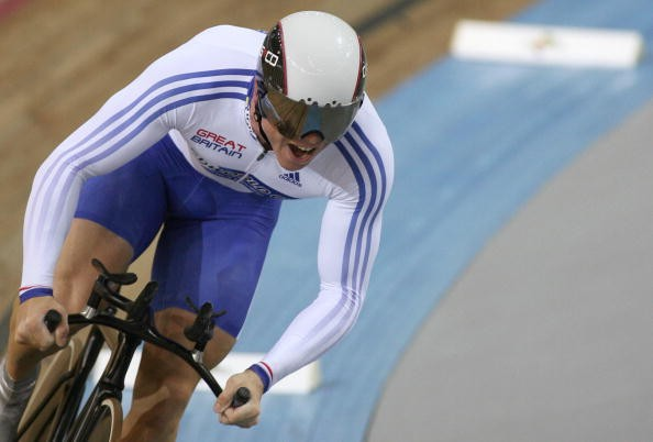 Chris Hoy on his way to World's gold in the 1K in Spain April, 2007.