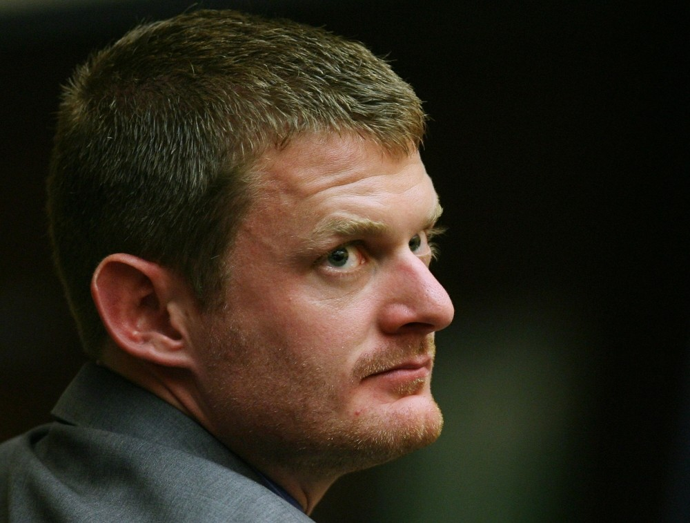 Floyd Landis, pictured at the May 2007 hearing of his appeal to USADA
