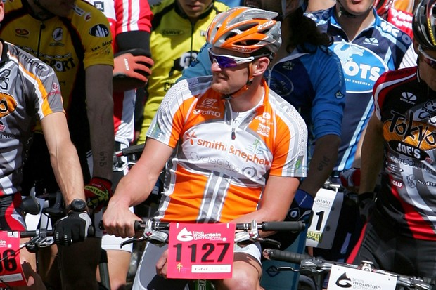 Floyd Landis on the start line of the Teva Mountain Games in 2007