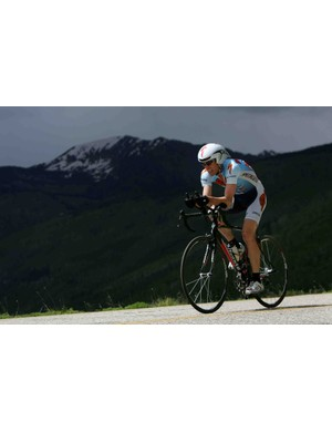 Ned Overend, 51, winning the Trek Hill Climb during the 2007 Teva Mountain Games.
