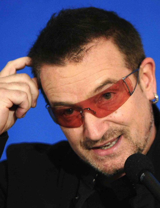 Activist, Lance Armstrong pal and rock star Bono.