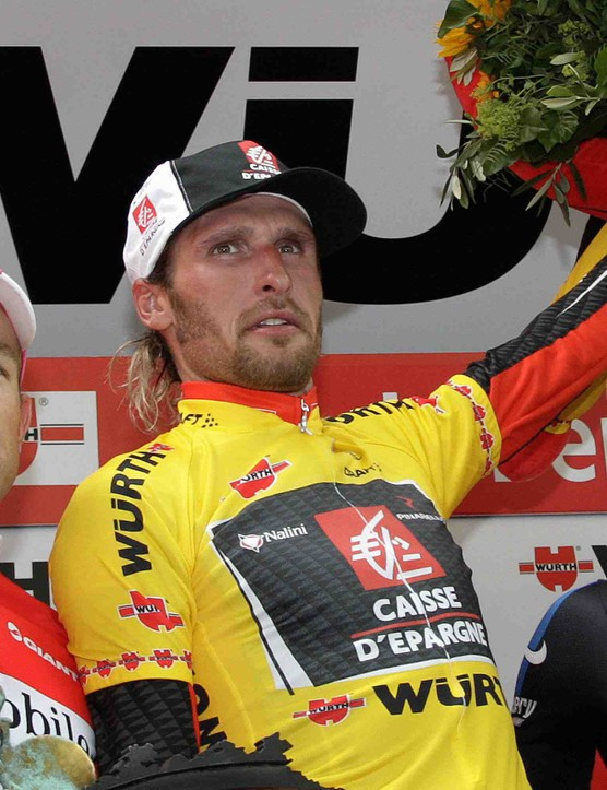 Devolder (R) finished third overall in the 2007 Tour of Switzerland.