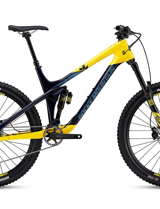 The third bike in the line is the Slayer 750 MSL. This version uses a RockShox Lyric RC fork with the Super Deluxe Debonair RC3 shock. The drivetrain and brakes are predominately comprised of Shimano's SLX group.