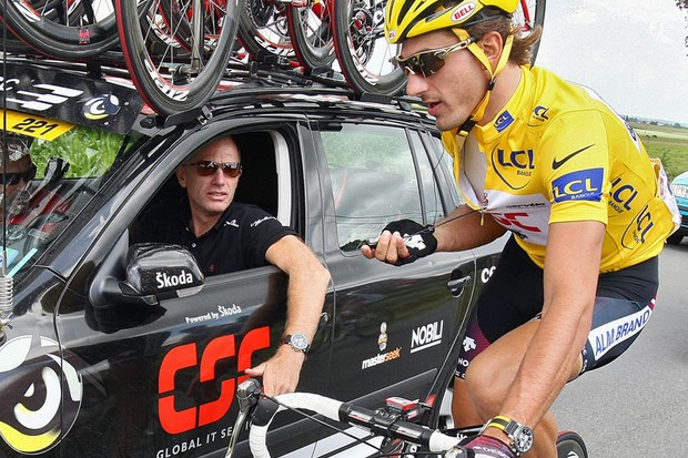 Fabian Cancellara just wanted to stay out of trouble today