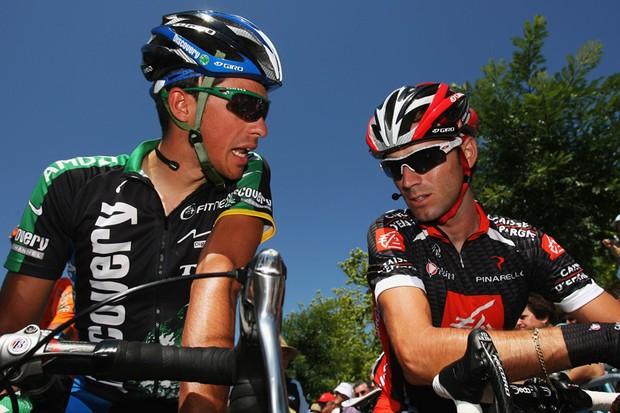 Alberto Contador and Alejandro Valverde