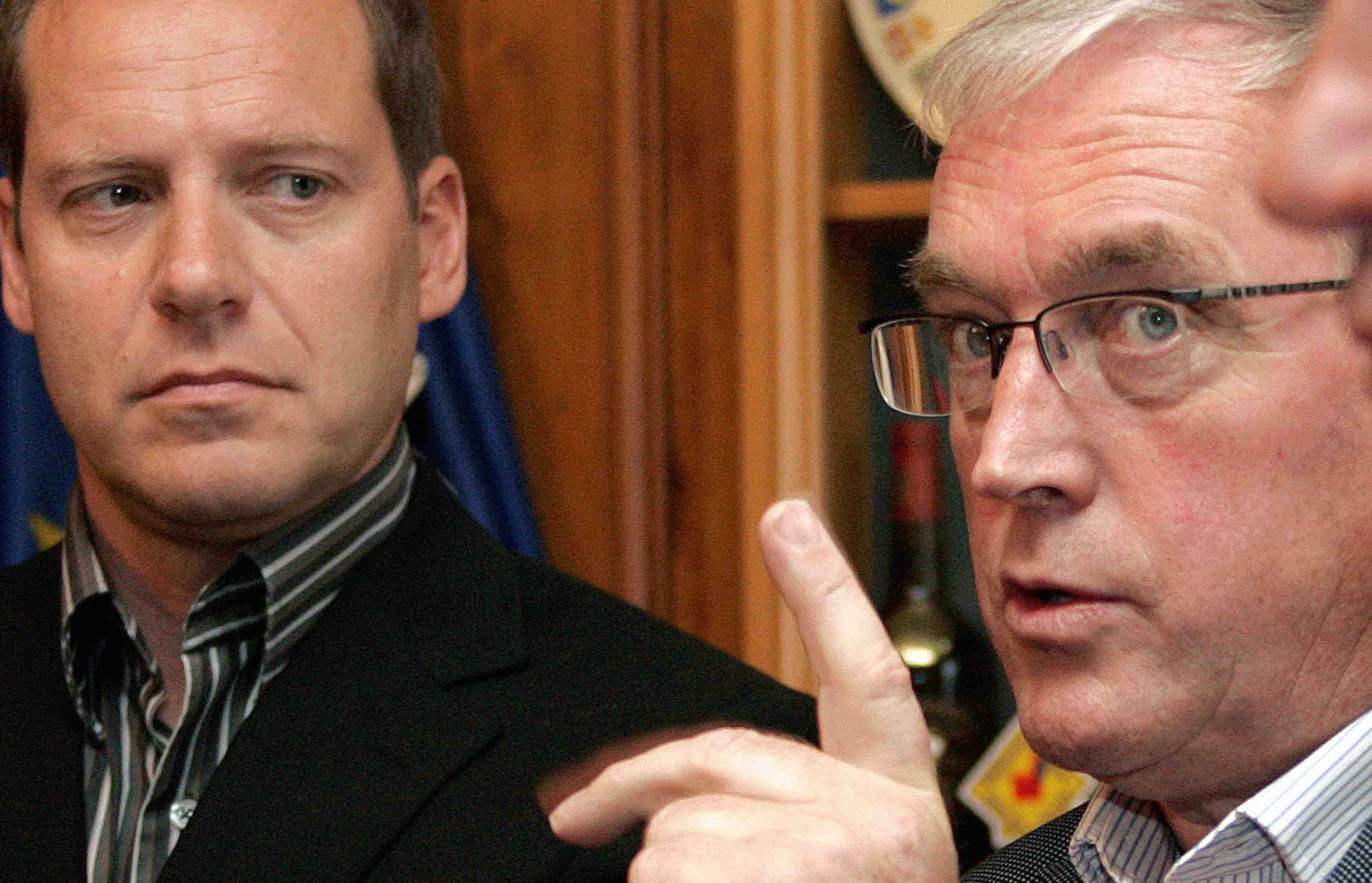 Tour de France chief Christian Prudhomme and UCI president Pat McQuaid (file photo).