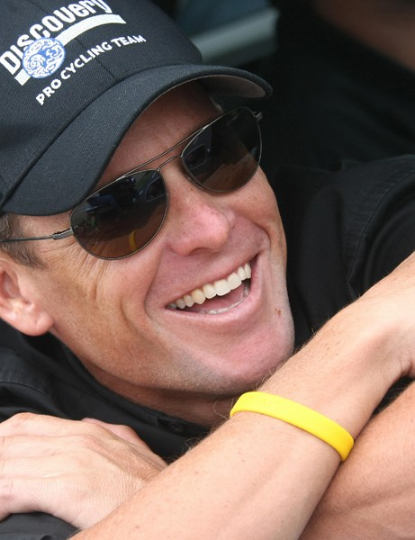 Lance Armstrong is enjoying life after retiring from pro racing.