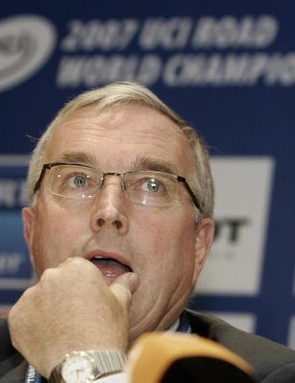 Pat McQuaid, president of the UCI.