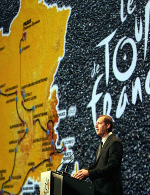 Tour director Christian Prudhomme introduced the 2008 route last October.