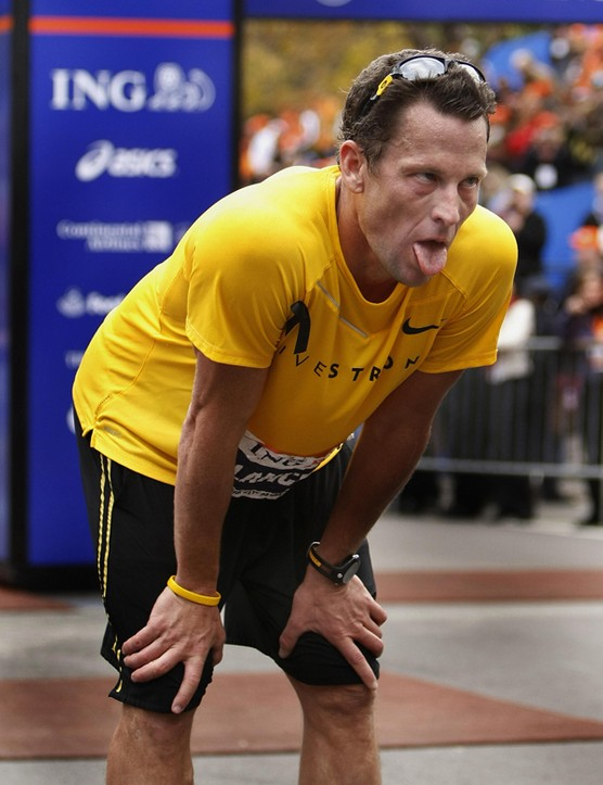 Armstrong after finishing the 2007 New York City Marathon.