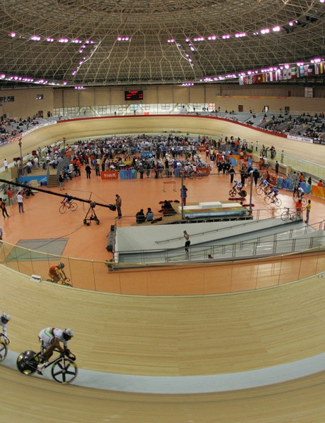 The French team sprint squad on the track