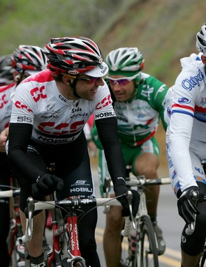 Just riding along? Maybe, but Millar is at the front, perfectly positioned to attack